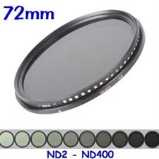 72MM Variable ND Filter ND2-ND400