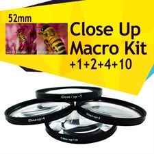 52MM Macro Close Up Filters +1 +2 +4 +10