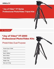 Kingjoy VT2000 Professional Tripod