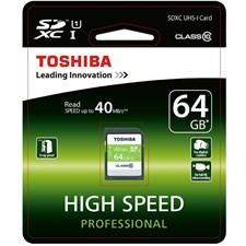 Toshiba 64GB SD C10 40MBPS Memory Card