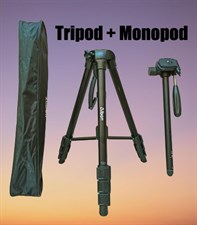 Tripod + Monopod 2 in 1 Professional Camera Stand
