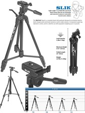 Slik F630 Professional Tripod For Dslr