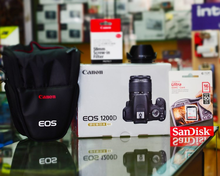 DSLR - Canon 1200D + 18-55 III Lens in Pakistan for Rs